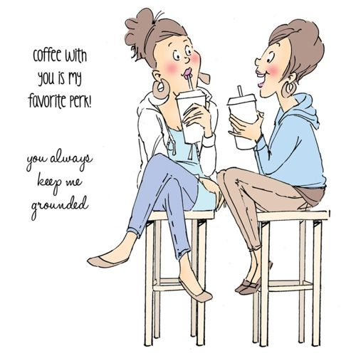ART IMPRESSIONS Cling Rubber Stamps -Young Girlfriends BFF's COFFEE
