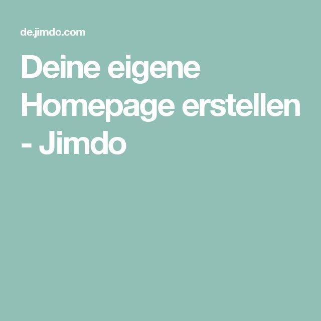 Deine eigene Homepage erstellen - Jimdo