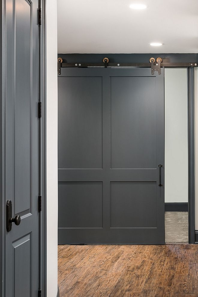 Man S Cave Basement Renovation Home Bunch Interior Design Grey Interior Doors Grey Painted Furniture Doors Interior