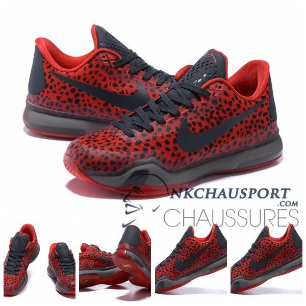 Nike Kobe Bryant 10 | Nouvelle Chaussure De Basket Homme Leopard Rouge