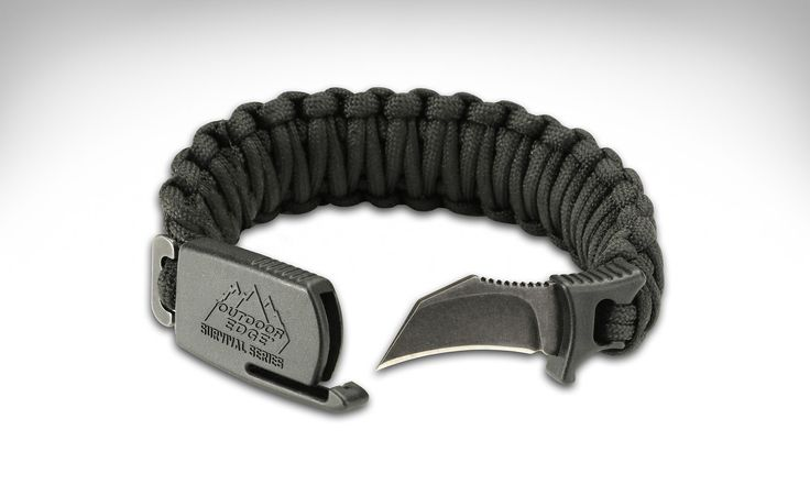 Paracord-equipped survival bracelets are nothing new. But one that hides a 1.5-inch hawkbill blade made of 8Cr13MoV stainless steel in its clasp? ThePara-Claw Survival Bracelet secures this blade in a glass reinforced nylon guard and deploys quickly using just a single hand — because that's all you'll have to work with considering the bracelet will be strapped to the other. For grip the blade boasts...