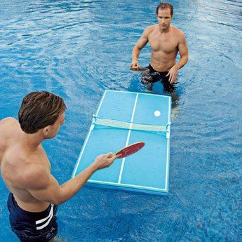 Floating Pool Pong Table. Want it? Own it? Add it to your profile on Unioncy.com #gadgets #technology #electronics d'autres gadgets ici : http://amzn.to/2kWxdPn