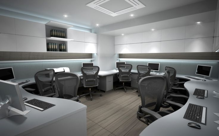 3D visual of the enlarged salon office.