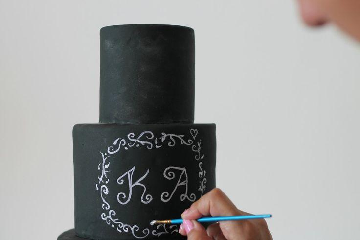 Chalkboard wedding cake how to!