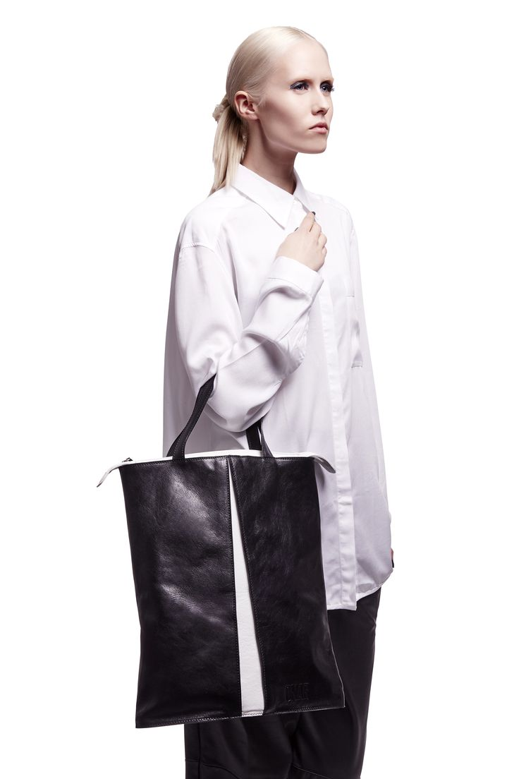 ONAR Rhombus bag in black & white