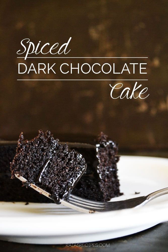 Spiced Dark Chocolate Cake :: Grain-Free, Dairy-Free, Paleo // deliciousobsessions.com