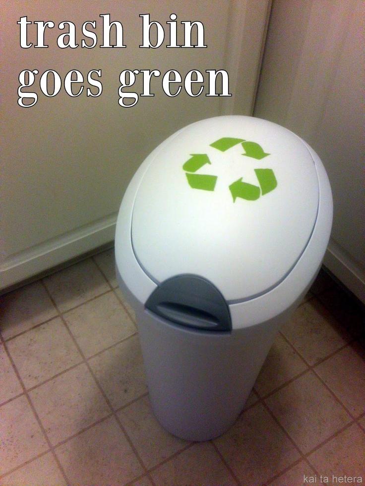 diy recycling bin - trash bin goes green | kai ta hetera