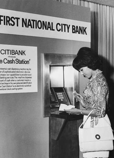 Although Barclays introduced the world's first automated teller machine in London in 1967, ATMs didn... - Getty Images