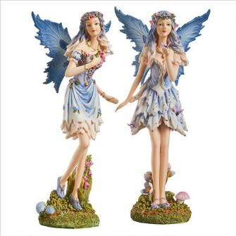 Poppy and Meadow the Windforest Fairies Statue Collection: Set of Two $39.95
