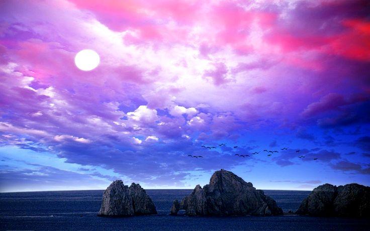 blue purple sky desktop wallpaper - photo #11