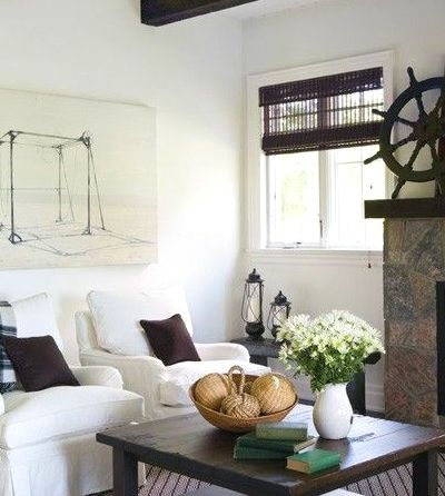 Keep it authentic with a ship wheel from a boat.
