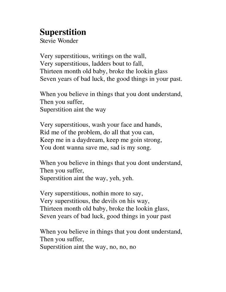 superstion in the way lyrics | Superstition lyrics