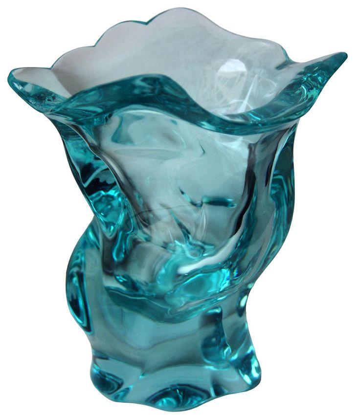 Frantisek Zemek, glass vase designed for Moser, glasswork Moser, Karlovy Vary (Karlsbad)