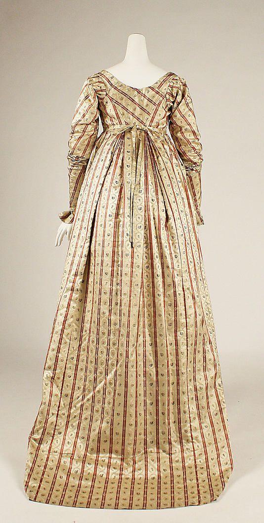 Metropolitan Museum of Art item 1981.393.2 ; c1800 silk dress, british