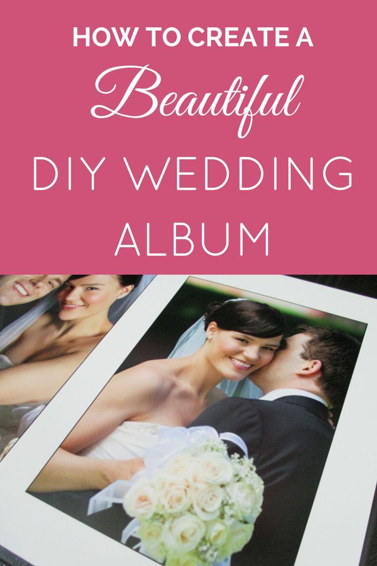 Learn how to make a beautiful DIY wedding album using our free wedding album templates. Wedding album ideas and tutorial. www.mybridalpix.com