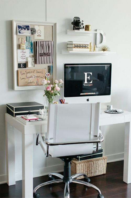 des id es pour am nager un bureau dans un petit espace achats bureaux et bureau domicile. Black Bedroom Furniture Sets. Home Design Ideas