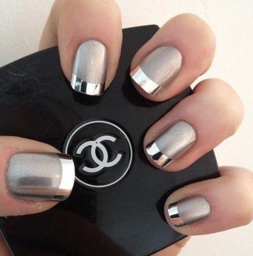 Best 25 silver nail ideas on pinterest white and silver nails diamond nail designs silver nail art designs nails frenzy prinsesfo Gallery