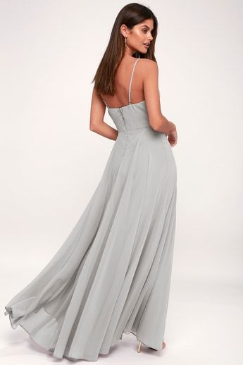 2f6f5a48f3f69 All About Love Light Grey Maxi Dress 4 | BRIDESMAIDS/GROOMSMEN ...