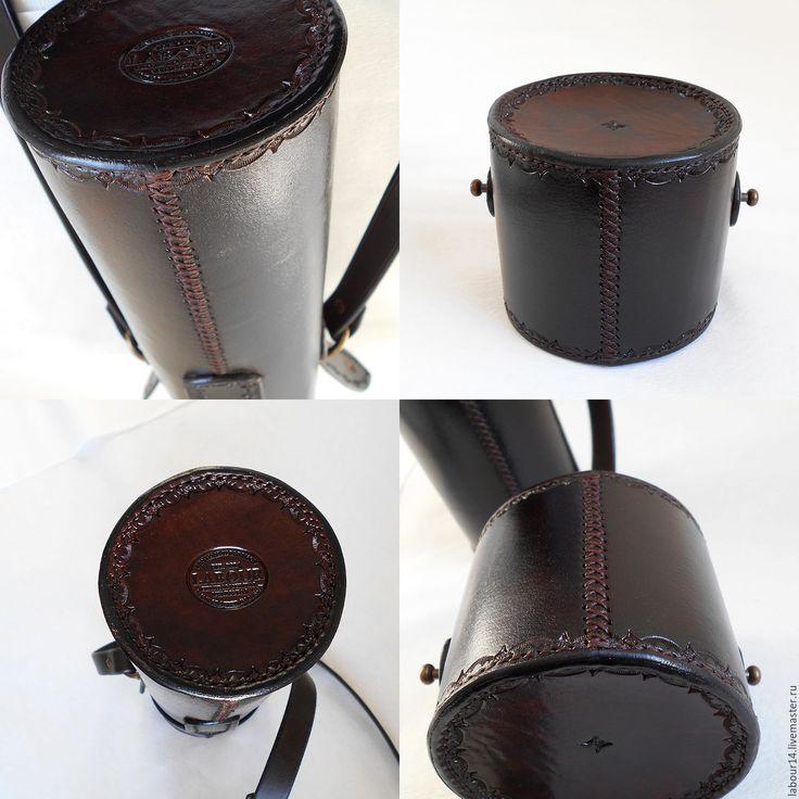 Купить Тубус кожаный 2, защитный, для оружейной оптики - натуральная кожа, labour, коричневый, кобура