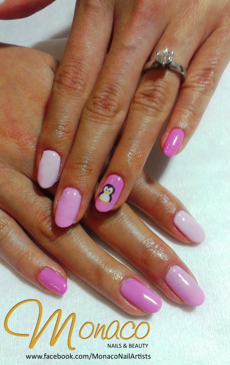 Because Penguins mate for life... Penguin Wedding Nails