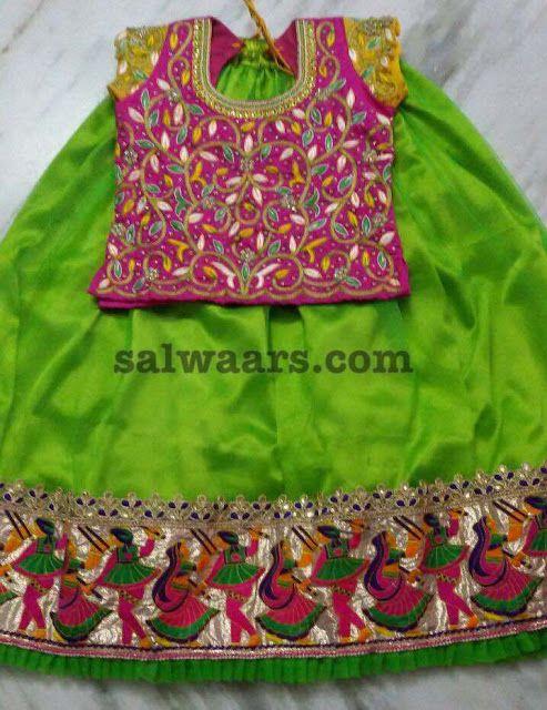 Green Lehenga All over Work Blouse - Indian Dresses