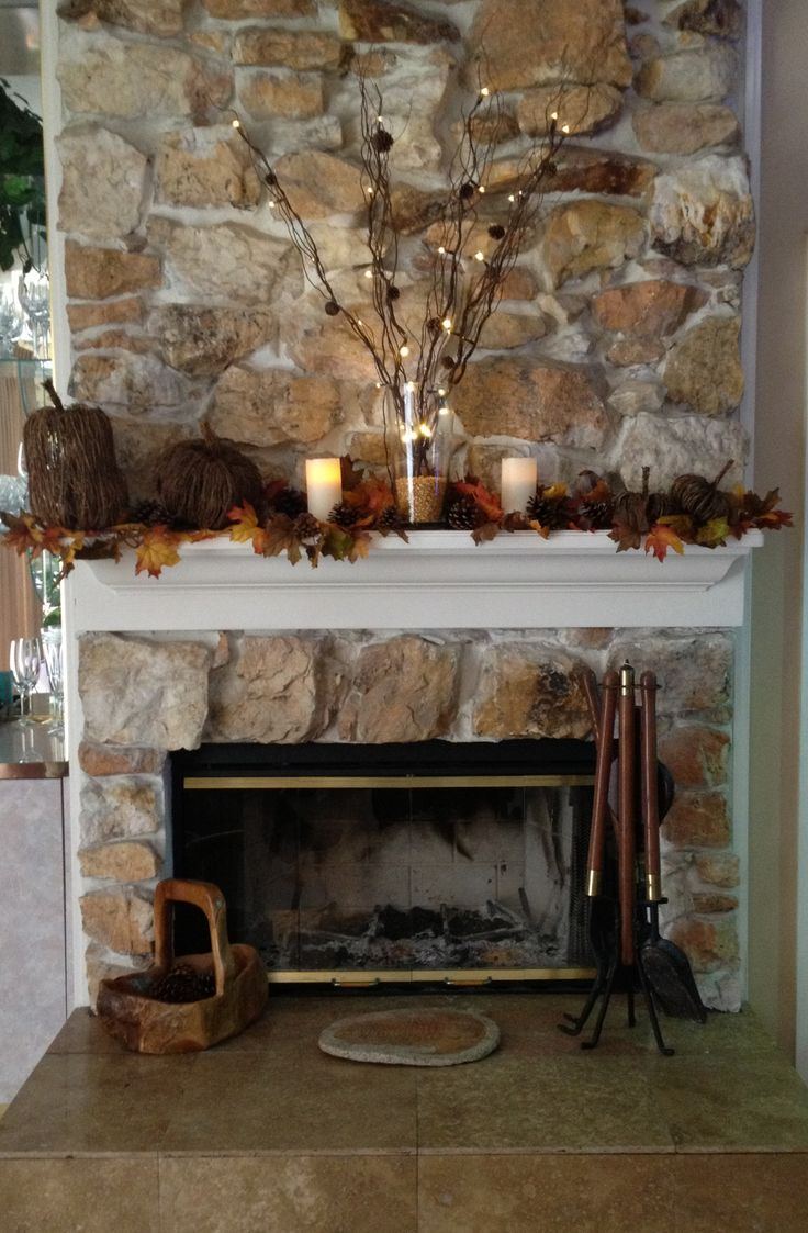 Fall fireplace decorations