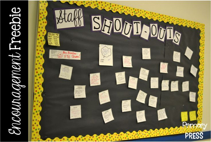 Positive work environment: encourage your co-workers with a staff shout-out board!