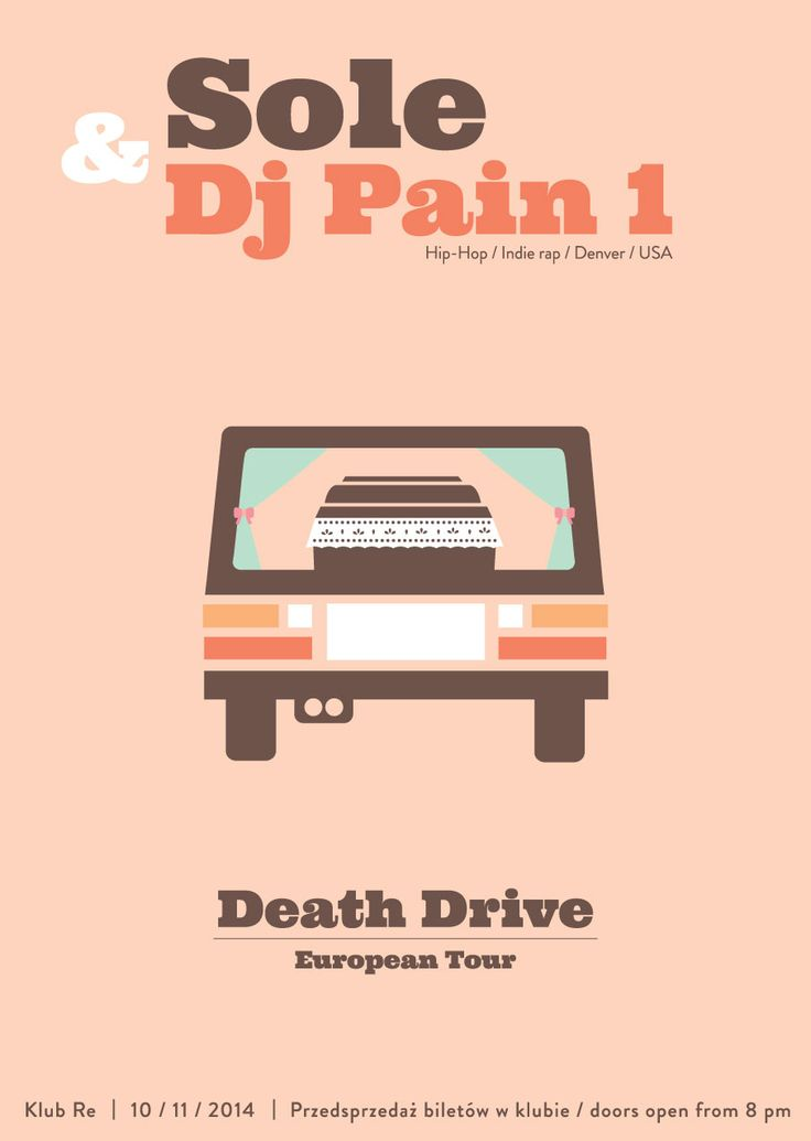Gig poster Sole & Dj Pain # Death Drive