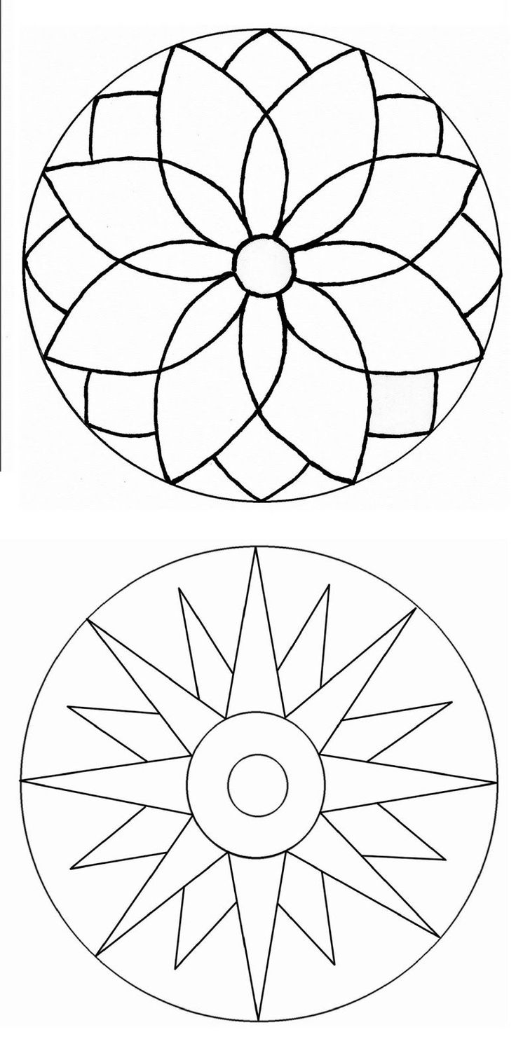 related simple mandalas coloring pages - photo#41