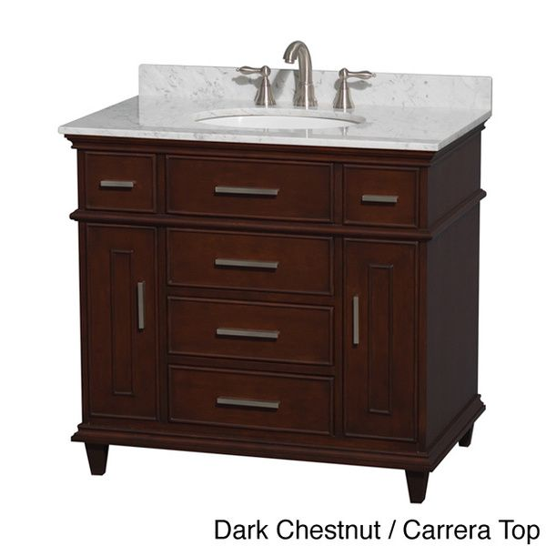 Berkeley 36 Inch Single Vanity   Overstock Shopping   Great Deals On  Wyndham Collection Bathroom