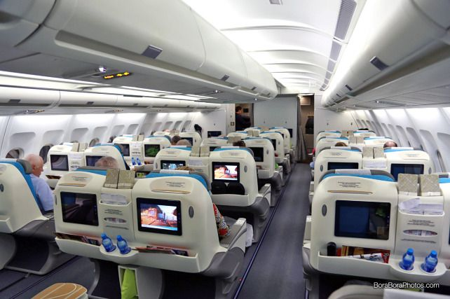 air tahiti nui business class cabin | boraboraphotos.com