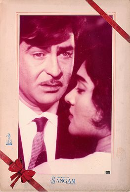 #Raj Kapoor in Sangam (1964), photographic still on a lobby card