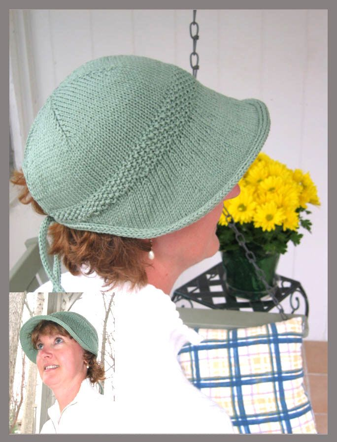 era sunvisor knit but nice shape... could be crocheted ~!~
