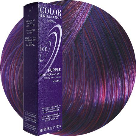 Ion Color Brilliance Brights Semi-Permanent Purple Hair Color  | pinned and loved by www.intuitivekb.com
