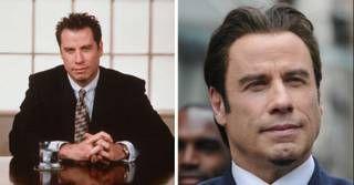 John Travolta esconde a calvíce com implante de cabelo (Foto-montagem)