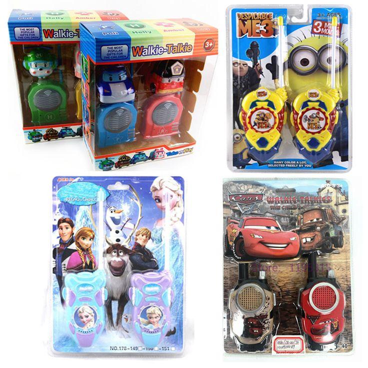 2 قطعة/الوحدة التوابع السيارات الأميرة إلسا لعبة البيني روبوت لعبة يتحملها لعب الأطفال لعبة إنترفون الإلكترونية # e