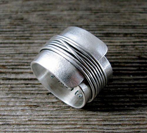 Bague en métal argenté I # Ring