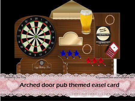Arched door easel card pub theme kit on Craftsuprint designed by Jean King - Arched door & 11 best Dr Digi images on Pinterest | Masculine cards Digital ... pezcame.com
