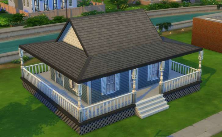 Sims 4 Building How To S Full Wrap Around Porch Roof Hip Roof Building Roof Cool Roof