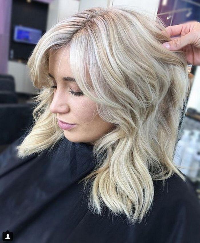 Completely Light Platinum Blonde Hair Color 2018-2019 for Long Hair