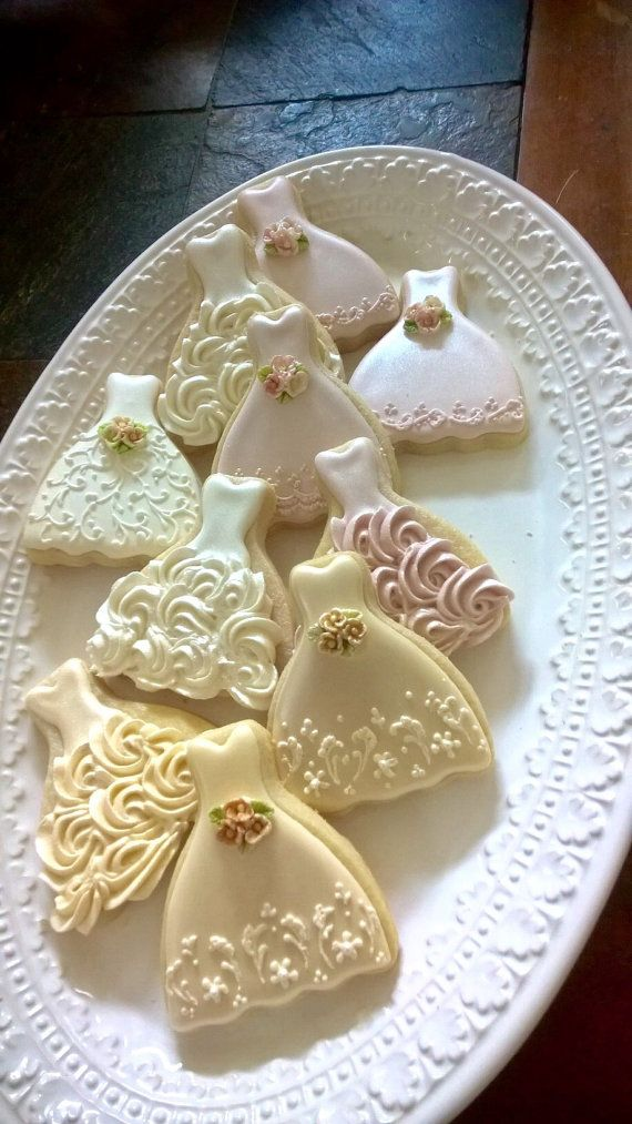 Petite Sized Dress Cookies 1 Dozen Cookie Favors by MarinoldCakes