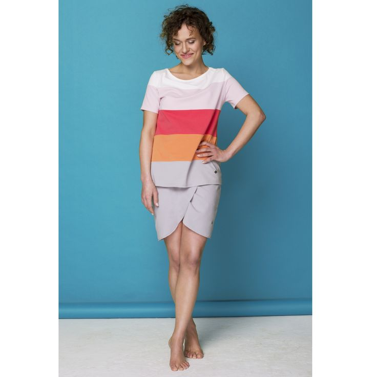 Ombre stripe top by Bluebirds & Co. / Design your own! Pick & mix colours and fabrics at www.bluebirds.co #bbrds #personalized #clothing