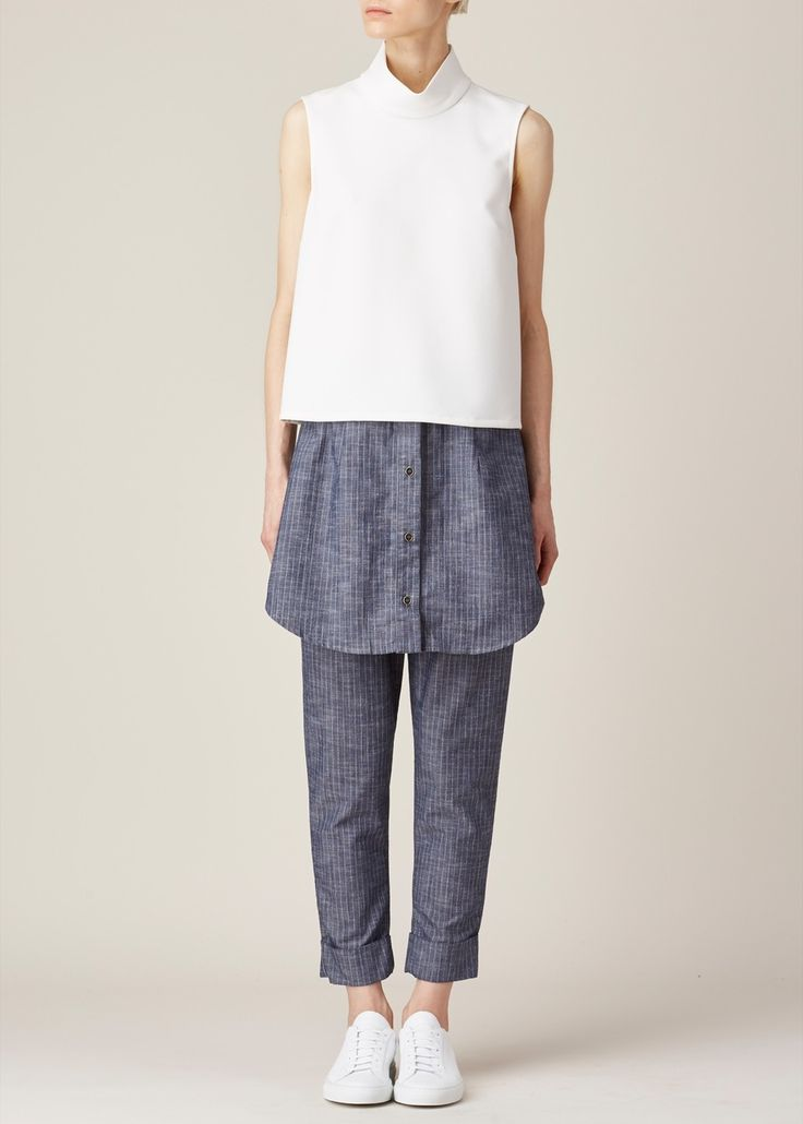 Minimal + Chic // Rachel Comey Exclusive Una Top (White) a great way to layer
