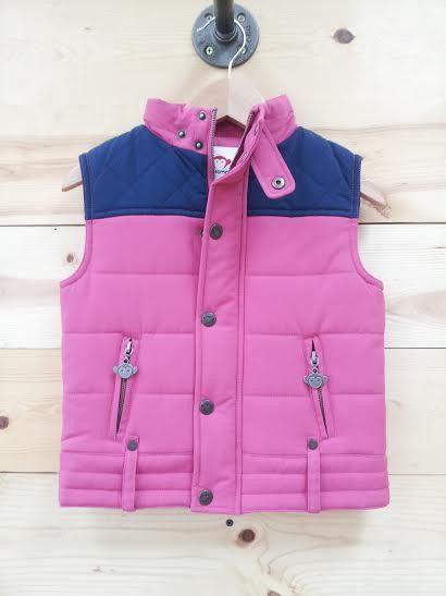 Girls Moto Vest - Carnation