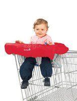 Safety 1st Einkaufswagenschutz - Polster für Hochstuhl, red dot