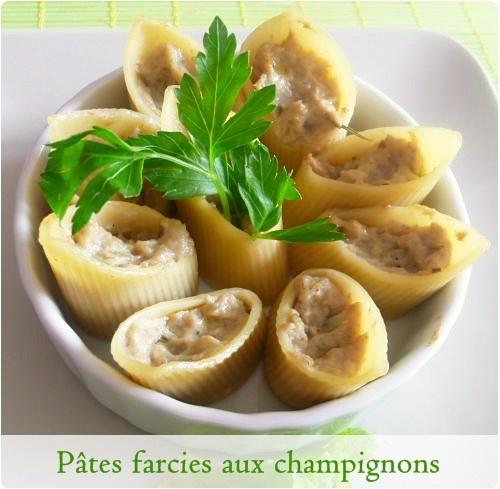 pates farcies au champignons, chevre fais et romarin
