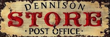 Vintage Post Office Sign Rustic Primitive Wood Signs Large, 14x42 rustic-novelty-signs