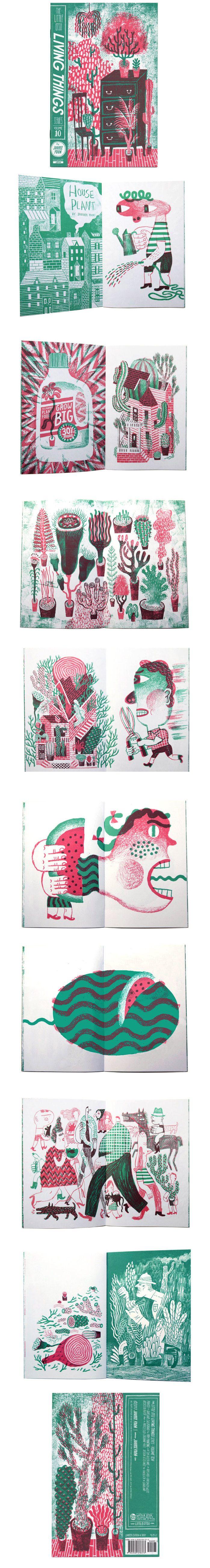 Dos colores, una riqueza de tintas muy grande. Me encantan tambièn las soluciones para rapresentar los edificios y las plantas (aún que no habrá muchas plantas en mi historia) JooHee Yoon