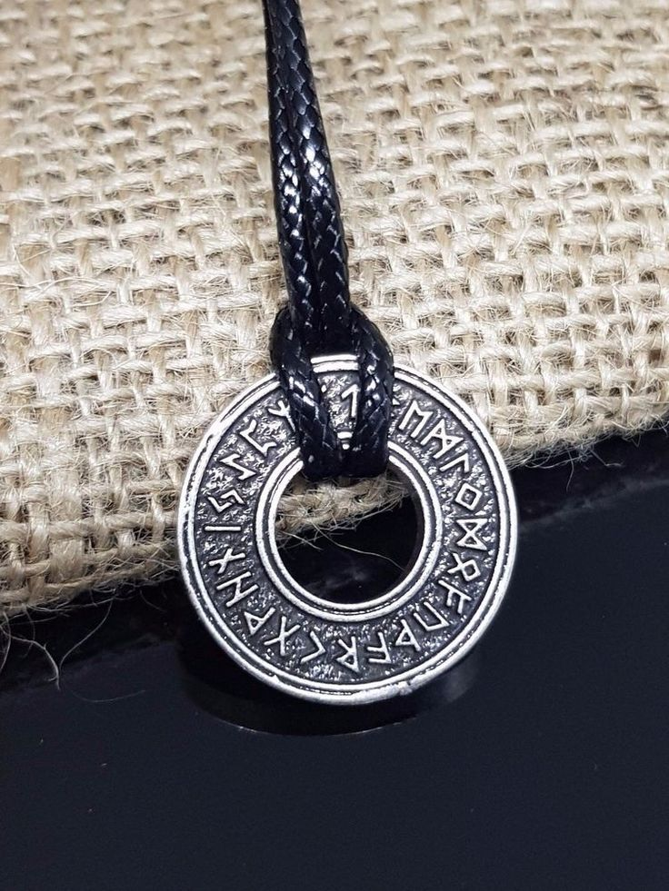 "NEW - Elder Futhark RUNE Viking. Celtic Pendant / Runic Circle Wheels. The Elder Futhark runes. 26mm Approx Diameter, 20"" cord lace. will do all we can to help. We aim to dispatch your order within 24 hours. 