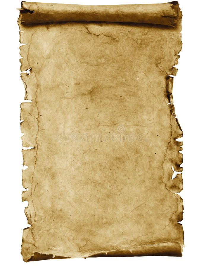 Blank parchment scroll. Blank ancient scroll or manuscript ...